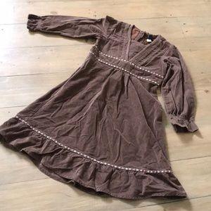 Baby gap adorable corduroy dress w/ flower accent